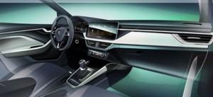 ŠKODA SCALA z nową koncepcją wnętrza dla samochodów kompaktowych